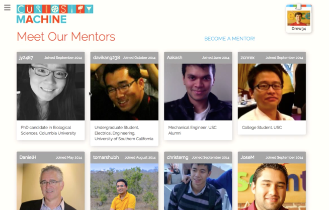Curiosity Machine Mentors